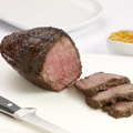 Cut roast into thin slices; serve with sauce.