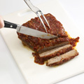 Bake 3 hours or until brisket is tender. Remove brisket from pan; thinly slice across grain.