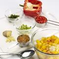 In a medium bowl, stir together all ingredients except steak and jerk seasoning.