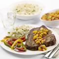 Serve steaks with salsa.