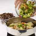 Stir vegetables, steak and juices into skillet; bring to a boil, stirring frequently.  Reduce heat to low; cook, stirring occasionally, 2 to 3 minutes or until vegetables and noodles are tender.