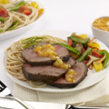Serve tri-tip roast with stir-fried vegetables.