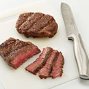 Transfer steaks to a cutting board. Let stand 5 minutes before thinly slicing against the grain.