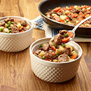 Pour into 8-inch square baking dish or 6 (8-oz.) individual oven-safe bowls.